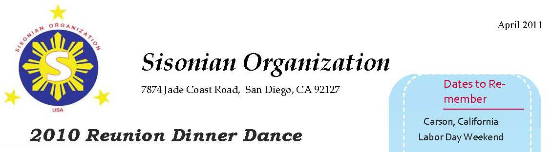 2011 Sisonian newsletter