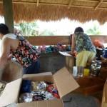 Unpacking balikbayan boxes