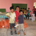 Every child received at least one pair of new shoes