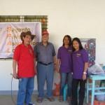 Pres. Judy, Tony Brownlow and teachers Rhodora and Lorna