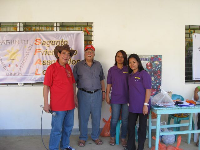 Pres. Judy, Tony Brownlow and teachers Rhodora and Lorna